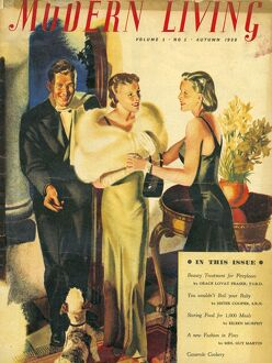 Modern Living 1938 1930s UK dinners parties first issue magazines