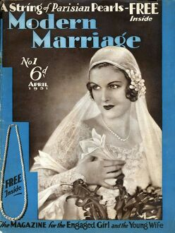 Modern Marriage 1931 1930s UK weddings marriages brides first issue magazines