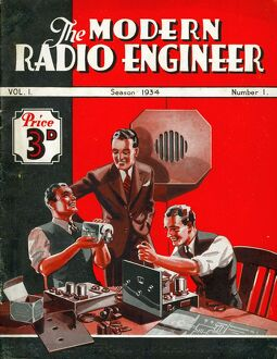 The Modern Radio Engineer 1934 1930s UK radios first issue magazines