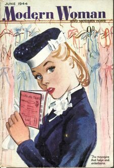 Modern Woman 1944 1940s UK womens ration book rationing portraits magazines