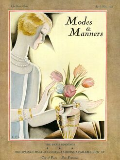Modes & Manners 1925 1920s USA flowers arranging florists magazines