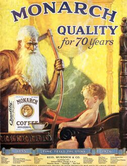 Monarch 1920s USA coffee old father time
