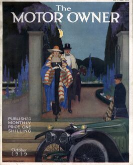 The Motor Owner 1919 1910s UK cars evening dress magazines