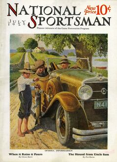 National Sportsman 1929 1920s USA cars lost asking directions maps magazines