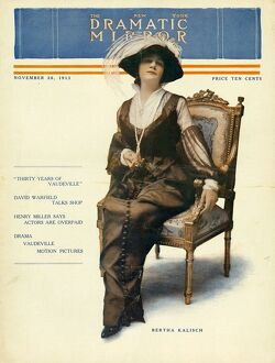 The New York Dramatic Mirror 1913 1910s USA womens portraits magazines