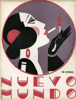 Nuevo Mundo 1923 1920s Spain cc magazines women art deco portraits womens
