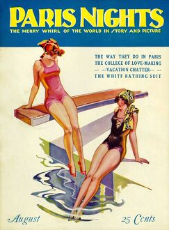 Paris Nights 1928 1920s USA swimwear swimming swimsuits pools diving boards glamour