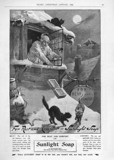 Pears 1899 1890s UK cc sunlight winter snow cats