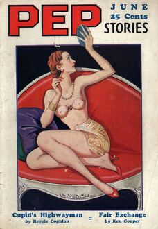 Pep Stories 1930s USA glamour pin-ups pulp fiction magazines menA•s
