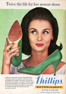 Phillips 1960 1960s UK womens shoes portraits