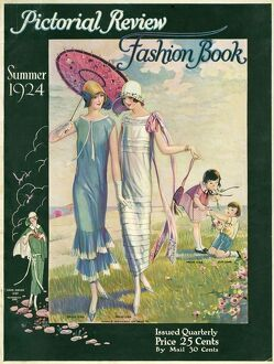 Pictorial Review Fashion Book 1924 1920s USA womens magazines
