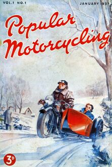 Popular Motorcycling 1937 1930s UK cars motorbikes motorcycles first issue magazines
