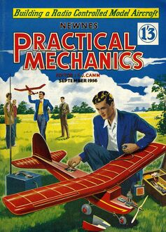 Practical Mechanics 1956 1950s UK magazines models aeroplanes