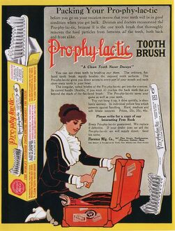 Pro-phy-lac-tic 1910s USA toothbrushes