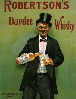 RobertsonA•s 1904 1900s UK whisky alcohol whiskey advert Robertsons Scottish Scotch