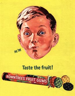 RowntreeA•s 1950s UK fruit gums sweets