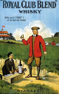 Royal Club Blend Whisky 1908 1900s UK whisky alcohol whiskey advert Scotch Scottish golf