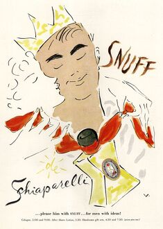 Schiaparelli Snuff 1950s USA mens fragrance cologne gifts presents smell