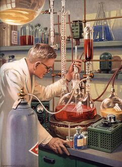 Scientists 1960s USA rklf science laboratories experiments chemistry itnt bkpl