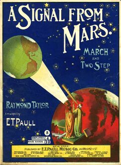 A Signal From Mars 1901 1900s USA globes telescopes