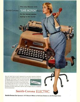 Smith-Corona 1950s USA mcitnt equipment typewriters secretaries secretary