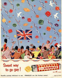 Spangles 1953 1950s UK coronation sweets