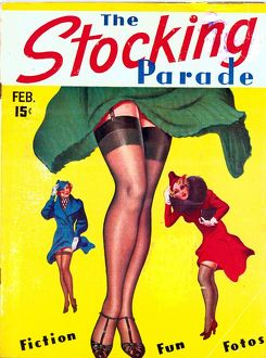 The Stocking Parade 1930s USA erotica stockings suspenders legs silk hosiery magazines