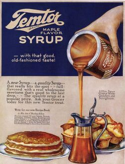 Temtor 1920s USA maple flavoured syrup