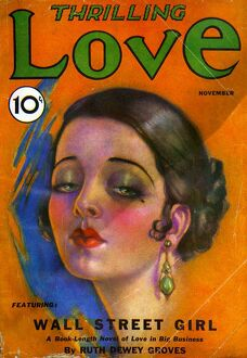Thrilling Love 1931 1930s USA pulp fiction magazines portraits