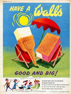 Wall's 1950s UK ice-cream
