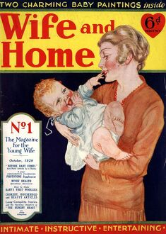 Wife and Home 1929 1920s UK first editions mothers and babies housewives magazines baby