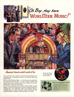 Wurlitzer 1946 1940s USA juke-boxes jukeboxes record players juke boxes