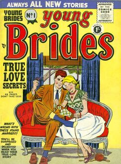Young Brides 1950s UK first issue weddings marriages brides comics magazines